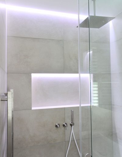 Lit shower shelf