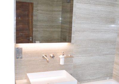 Elegantly tiled bathroom